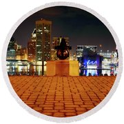 Canon View Of The City Round Beach Towel