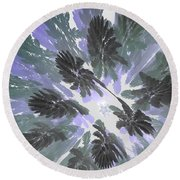 Daytime Jungle Sky By Jammer Round Beach Towel