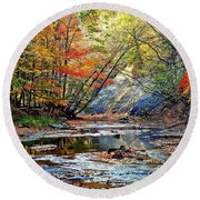 Canopy Of Color Iv Round Beach Towel