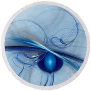 Can't Get Enough Round Beach Towel