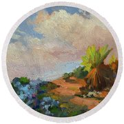 Canterbury Bells Joshua Tree Round Beach Towel