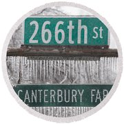 Canterbury Ice Round Beach Towel