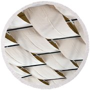 Canvas Ceiling Detail Round Beach Towel