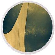 Canvas Sky Round Beach Towel by Bob Orsillo