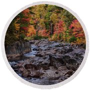 Canyon Color Rushing Waters Round Beach Towel