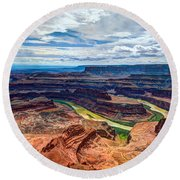 Canyon Country Round Beach Towel by Chad Dutson