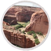 Canyon De Chelly Arizona Round Beach Towel