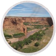 Canyon De Chelly Overview Round Beach Towel
