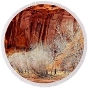 Canyon De Chelly - Spring II Round Beach Towel