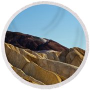 Canyon Golds Round Beach Towel