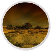 Canyon Land Utah Round Beach Towel