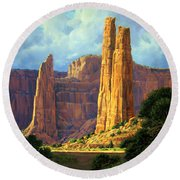 Canyon Light Round Beach Towel by Randy Follis
