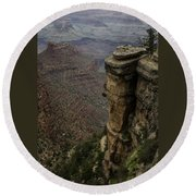 Canyon Peaks Round Beach Towel