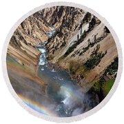 Canyon Rainbow Round Beach Towel