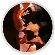 Canyon Shadows Round Beach Towel