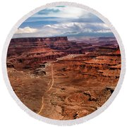 Canyonland Round Beach Towel by Robert Bales