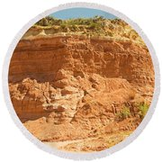 Canyonlands In West Texas Round Beach Towel