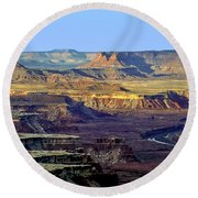 Canyonlands View From Green River Overlook Round Beach Towel