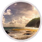 Cap Estate Round Beach Towel