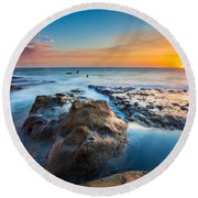 Cape Arago Orcas Round Beach Towel