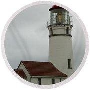 Cape Blanco Lighthouse  1 B Round Beach Towel