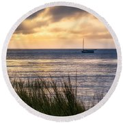 Cape Cod Bay Square Round Beach Towel