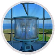 Cape Cod Lighthouse View Round Beach Towel