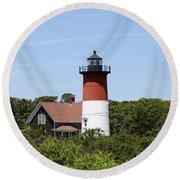 Cape Cod - Nauset Lighthouse - Ma Round Beach Towel