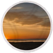Cape Cod Sunset Round Beach Towel
