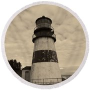 Cape Disappointment Lighthouse 2 Round Beach Towel