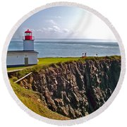 Cape D'or Lighthouse-ns Round Beach Towel