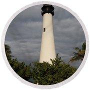 Cape Florida Lighthouse Round Beach Towel