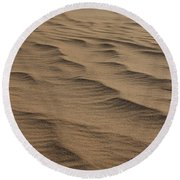 Cape Hatteras Ripples In The Sand-north Carolina Round Beach Towel