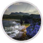 Cape Hedo Hdr Round Beach Towel