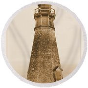 Cape Jourimain Lighthouse Round Beach Towel