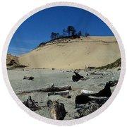 Cape Kiwanda Sand Dune Round Beach Towel
