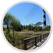 Cape Lookout Walk Way Round Beach Towel