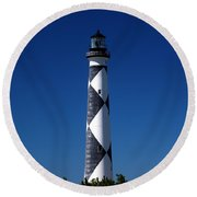 Cape Lookout In The Blue Round Beach Towel