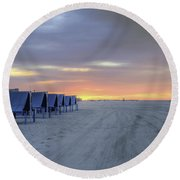 Cape May At The Crack Of Dawn Round Beach Towel