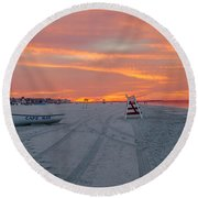 Cape May Seascape Round Beach Towel