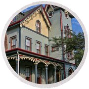 Cape May Victorian Round Beach Towel