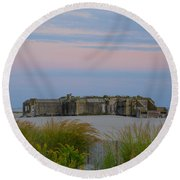 Cape May Wold War Two Concrete Bunker Round Beach Towel
