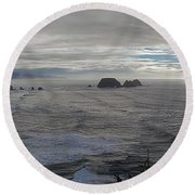 Cape Mears Storms Round Beach Towel