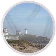 Cape Neddick Lighthouse IIi Round Beach Towel