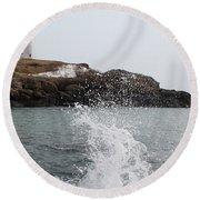 Cape Neddick - Nubble Light 4 Round Beach Towel