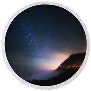 Cape Perpetua Celestial Skies Round Beach Towel