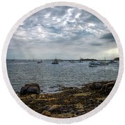 Cape Porpoise Maine - In The Evening Round Beach Towel