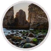Cape Roca I Round Beach Towel