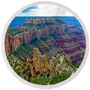 Cape Royal On North Rim Of Grand Canyon-arizona Round Beach Towel
