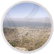 Cape Town Panoramic Round Beach Towel
